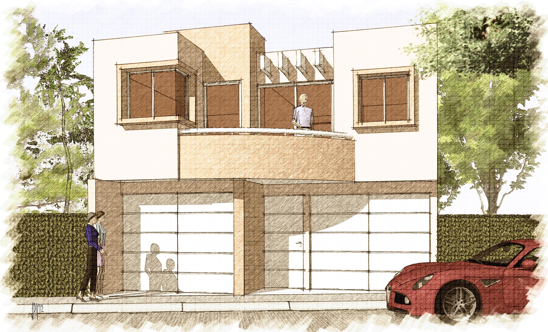 Casa villa de guadalupe 365 j d arquitectos - Dibujos de casas modernas ...